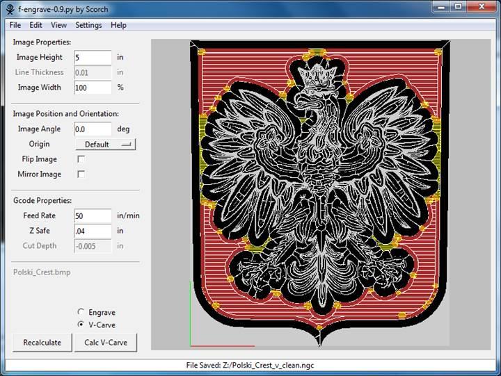 F-Engrave Image V-Carving Tutorial
