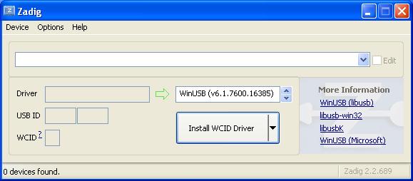 K40 Whisperer USB Driver Setup